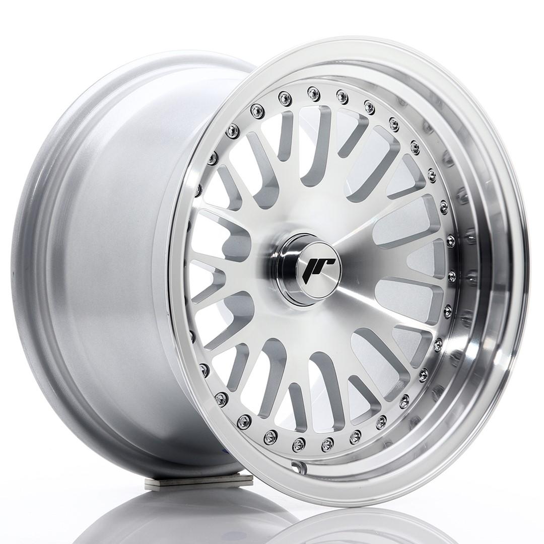 Japan Racing JR Wheels JR10 15x9 ET0-20 CUSTOM PCD Silver