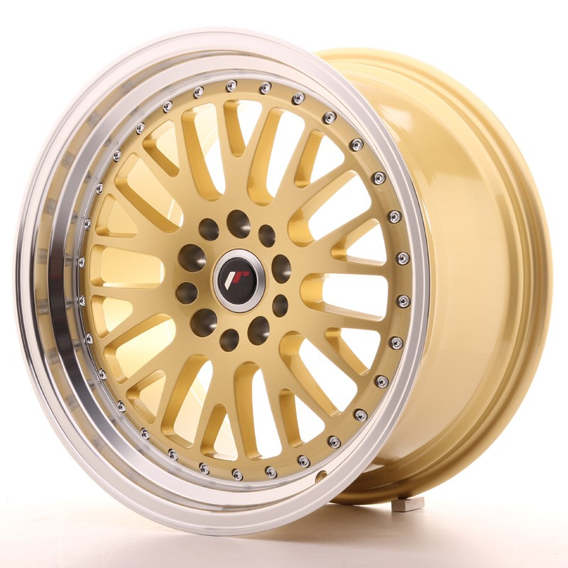 Japan Racing JR Wheels JR10 18x9.5 ET40 5x112. 5x114.3 Gold