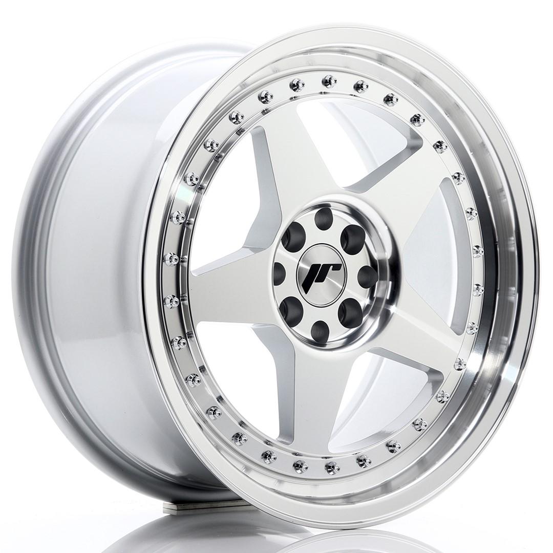 Japan Racing JR Wheels JR6 17x8 ET25 5x114.3 5x120 Silver