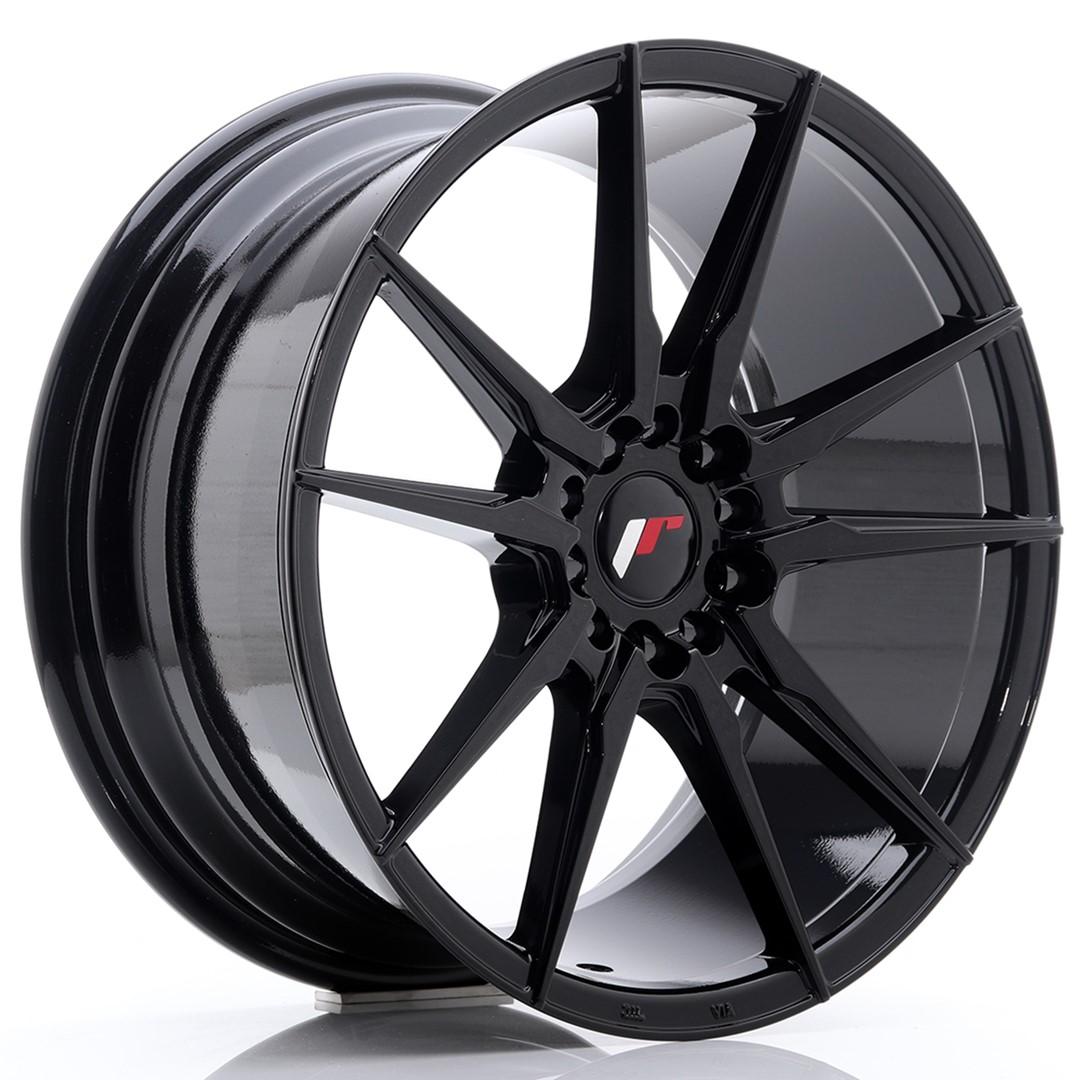 Japan Racing JR Wheels JR21 18x8.5 ET40 5x112 5x114.3 Black