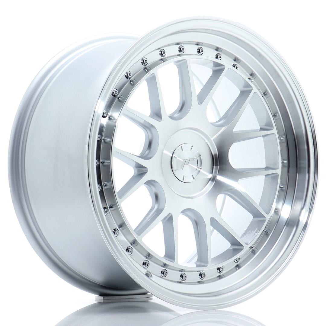 Japan Racing JR Wheels JR40 18x9.5 ET15-35 CUSTOM PCD Silver